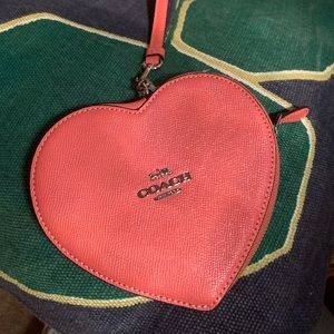 Coach Bags - Coach Heart Shaped Crossgrain Leather Wristlet